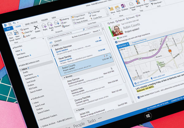 Outlook 2013. (Image source: Microsoft.)