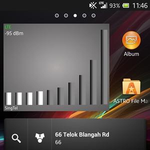 SingTel <br> Signal strength: -95dBm