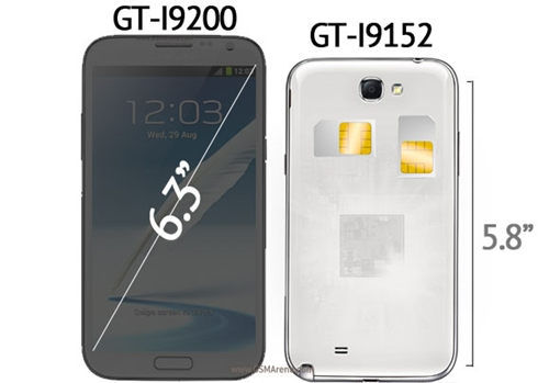 The two alleged upcoming Samsung Galaxy devices.