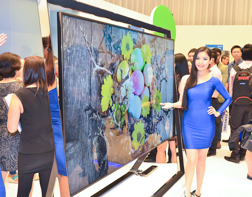 Also showcased was the highly impressive Samsung S9 4K TV