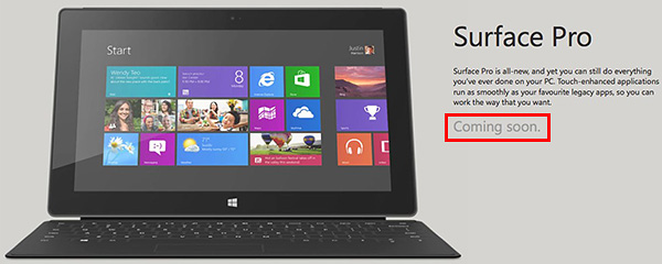 The Microsoft Surface Pro will launch in Singapore before the end of June. (Image source: Microsoft Singapore website.)