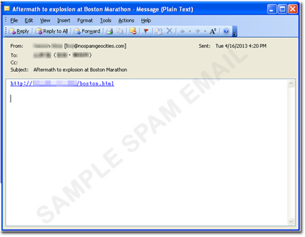 A sample of a spam email. (Image source: Trend Micro)