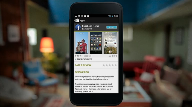 Facebook Home will be available on 12th April on Google Play Store.
