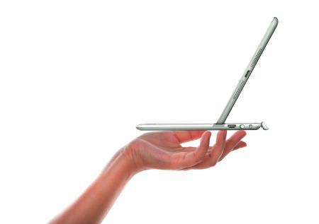 The Logitech Ultrathin Keyboard Cover is thin, light and sleek in style