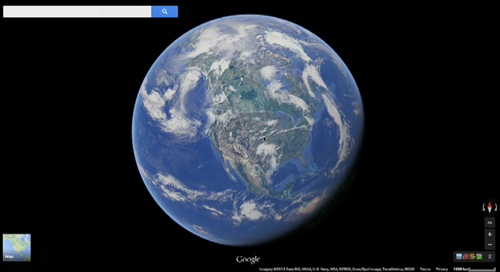 Google Earth is now seamlessly integrated into Google Maps. Just zoom out to watch the clouds pass by.
