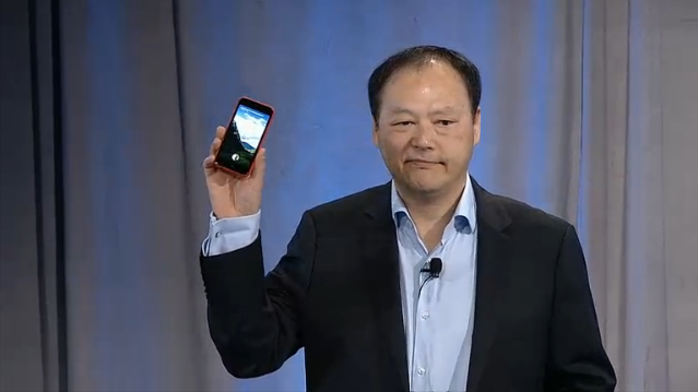 HTC CEO Peter Chou took the stage to introduce the HTC First, the first Facebook Home optimized smartphone.
