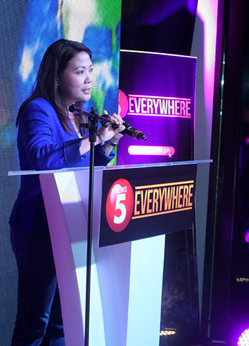 """With News 5 Everywhere, NEWS5 is able to leverage the power of both media and technology in making the news accessible to everyone. The platform is designed to encourage more citizens to share their perspectives on the news, which will help empower them to become more responsible and vigilant members of society,"" shared NEWS5 chief Luchi Cruz-Valdes."