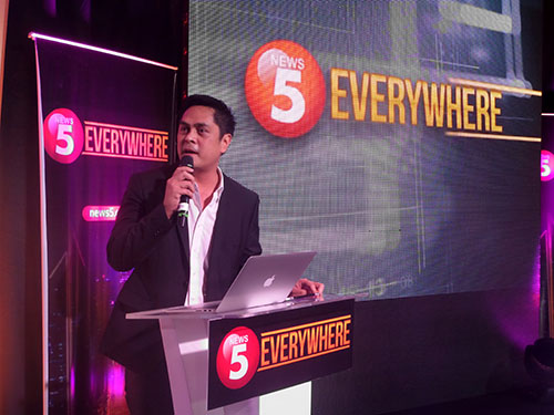 Martin Andanar, News5 anchor and News 5 Everywhere project head, shares the goal of the platform - to engage citizens in a more effective approach through social streamcasting.