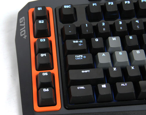 The bright orange edge enclosing the G-keys shouts out for attention as these are the extra programmable keys. Whether it looks appealing and if it's located at the right place, that would heavily depend on your personal preferences. More about the G-keys later in the article.