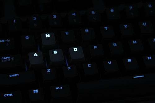 Dual-lighting zones lets you set different brightness levels for WASD and the rest of the keyboard.