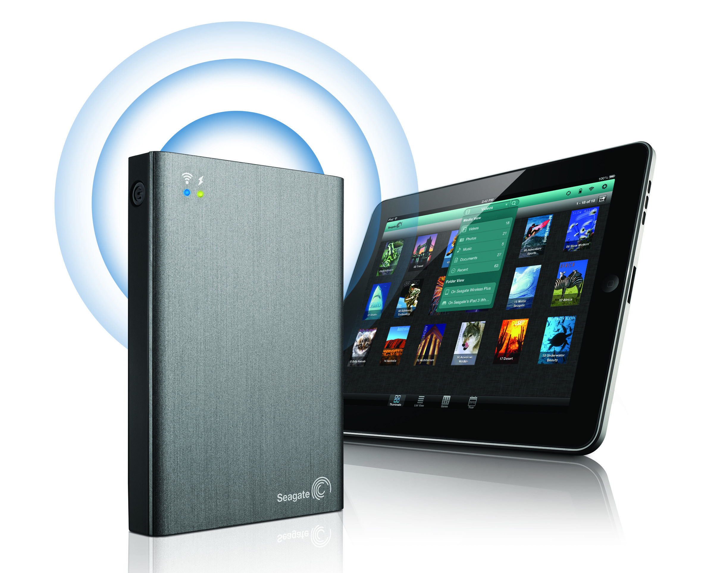 Seagate Wireless Plus Lets You Backup 1tb Of Files From