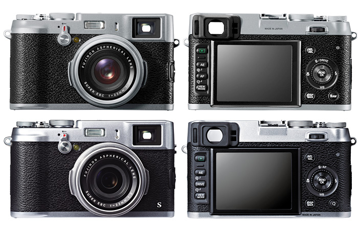 Fujifilm X100 (top) vs. X100S (bottom).
