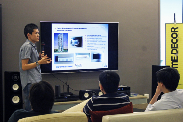 "Adam Tan, the Sales Manager of One Touch Systems, gives a very convincing talk on how a single (virtual) remote can ""rule"" your home devices and appliances. You could even manage your heater and oven if you so wish to!"