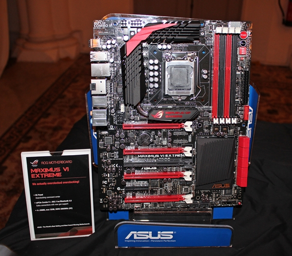 The Maximus VI Extreme ROG motherboard is probably the pinnacle of motherboard engineering in the upcoming Intel Z87 lineup.