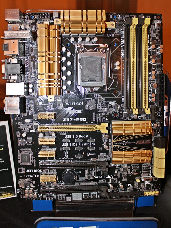The ASUS Z87-Pro motherboard.