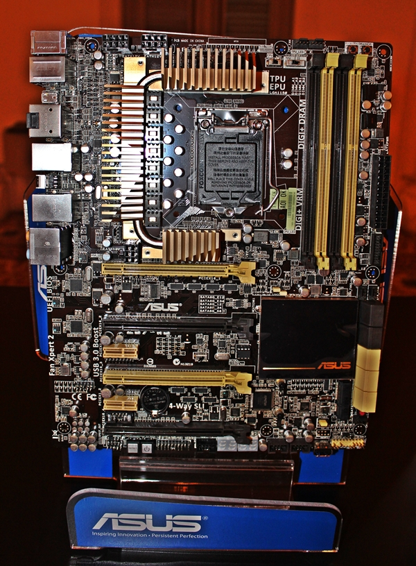 The ASUS Z87-WS workstation-class motherboard.