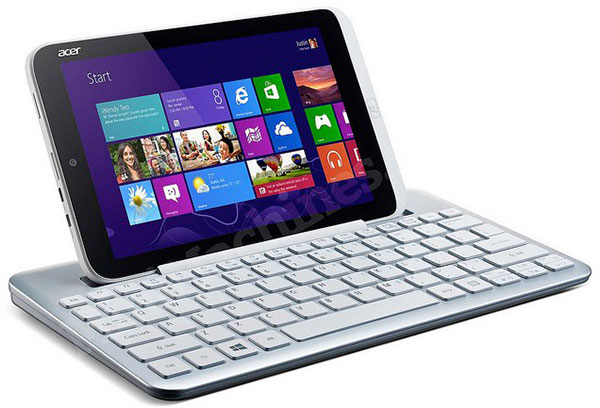 The 8-inch Acer Iconia W3. (Image source: MiniMachines.net.)