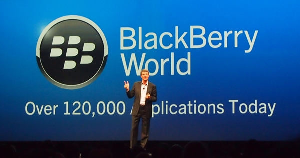 The total number of apps in BlackBerry World increased from 70,000 in January 2013 to over 120,000 in May.