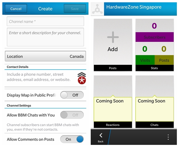 Anyone can create a BBM Channel. Here's a sample channel that we have created for the purpose of this article.