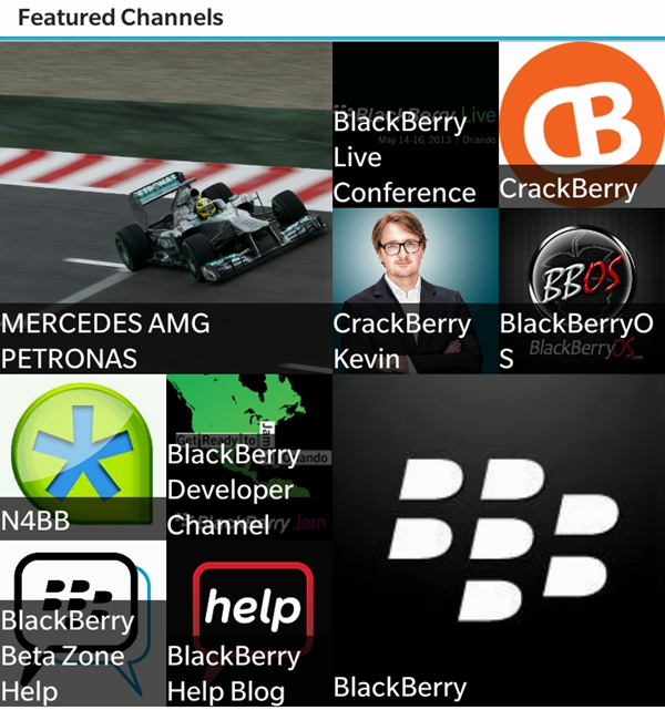 Here are some of the featured Channels you can find in BBM.