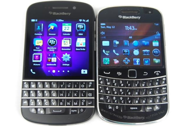 The BlackBerry Q10 has a striking resemblance to the Bold 9900, which was unveiled in 2011.