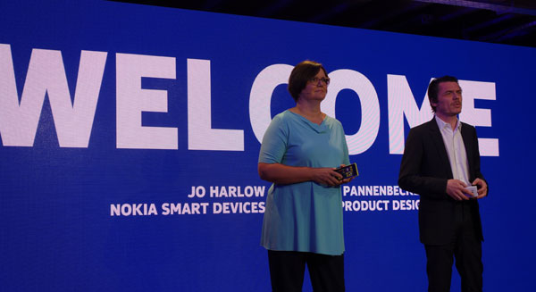 On stage at the London launch event were Nokia executives Jo Harlow,  Vice President for Smart Devices, as well as Stefan Pannenbecker, Vice President for Industrial Design.
