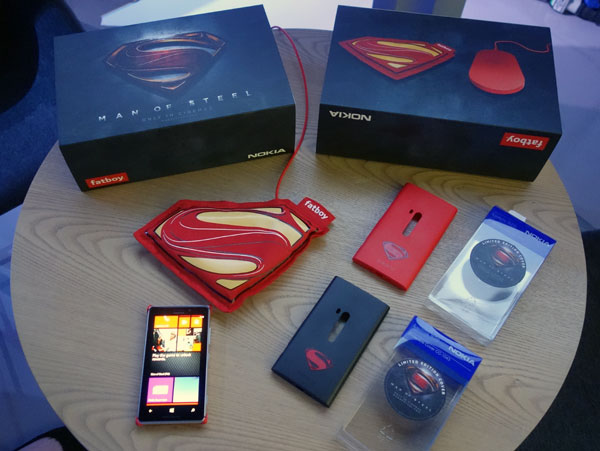 Look out for a cross-promotion package between Nokia and the upcoming Man of Steel movie, coming soon to Singapore.