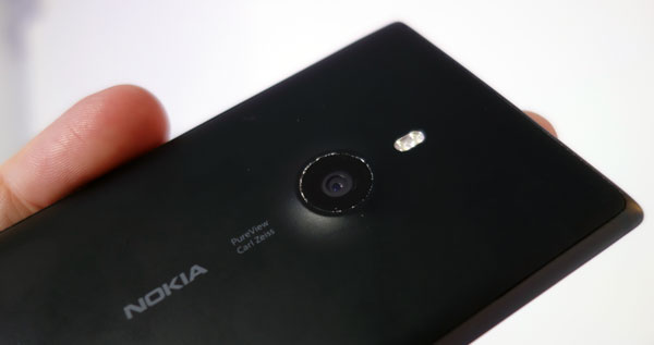 At the back: The dual-LED flash, and the 8.7-megapixel camera with OIS.