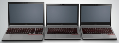 Top to down: the Lifebook E733, E743, and E753.