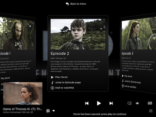 Within the season itself, you can flip through different episodes in a panel navigation format. They come with short summaries so that you can follow the story, in the event that you've lost track after some time.