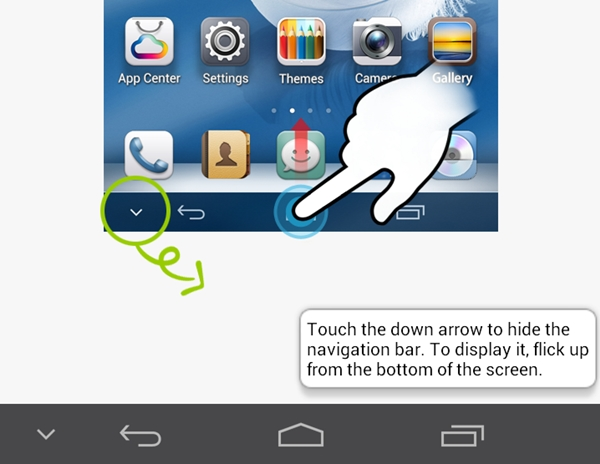 The option to hide the navigation bar comes in handy especially if you want to fully maximize the 6.1-inch screen.