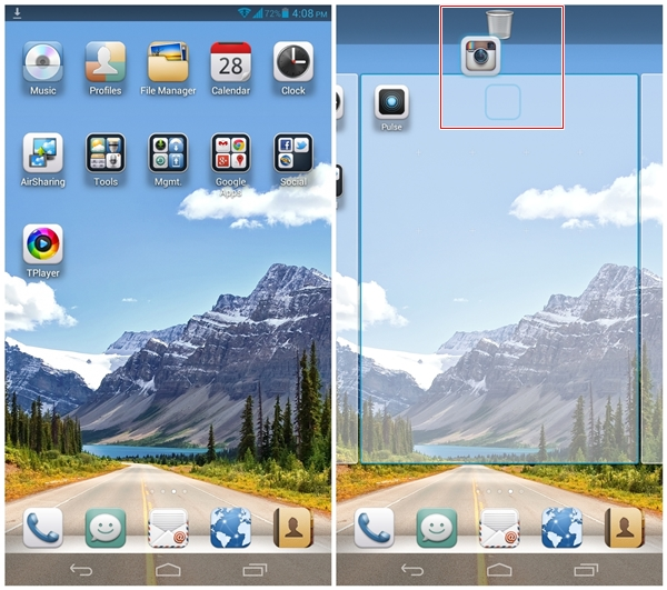 You still can group apps into folders. To uninstall an app, simply hold and drag it to the top.