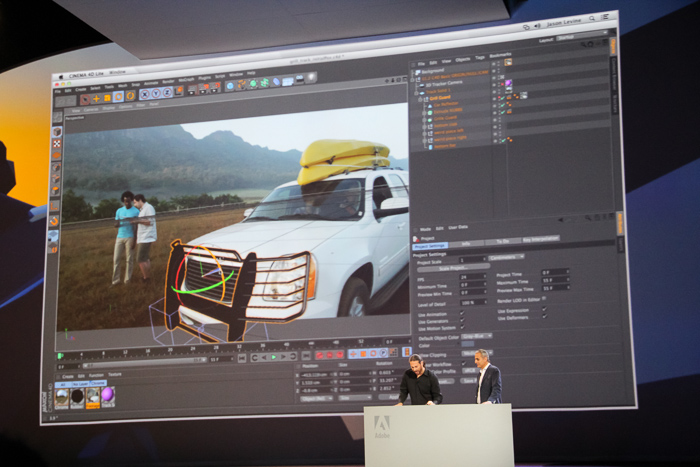 Premiere Pro CC comes with a new Live 3D Pipeline with Maxon Cinema4D integration.