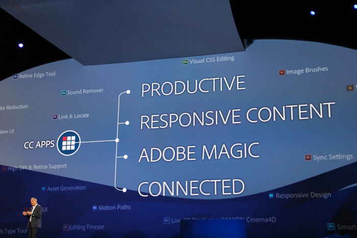 The four focuses for the new Adobe CC apps.