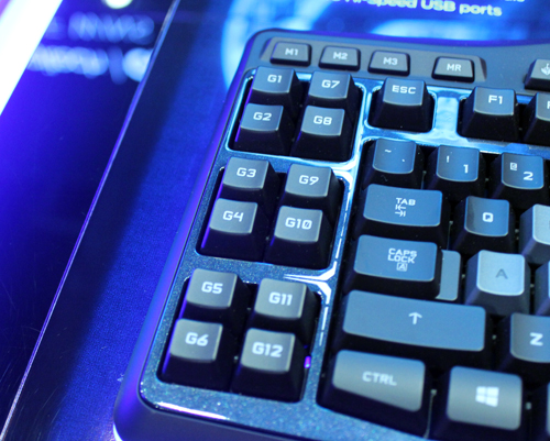 A total of 12 programmable macro keys are provided for gamers.