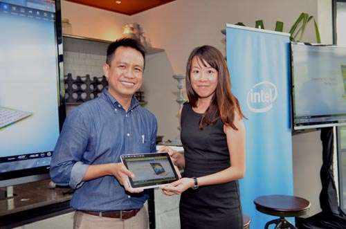 From L-R: Norhizam Kadir, National Sales Manager, Intel Malaysia, and Fay Ter, Marketing Manager of Acer Malaysia, officially launching the 'Generation Today' campaign