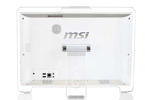 From the rear, you can see how simple yet effective the design of the MSI Wind Top AE1941 is