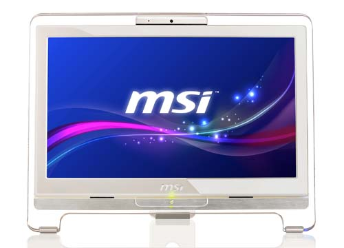 The MSI Wind TOP AE1941 features a sleek crystal frame