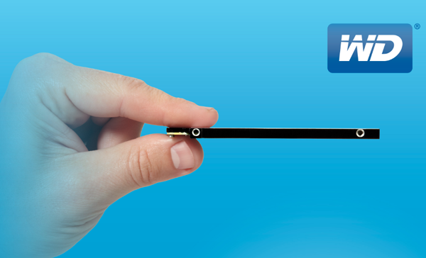 The new 1TB WD Blue drive is the thinnest 1TB drive in the world.