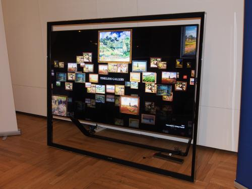 Samsung has joined the fray of 4K TVs with this 84-inch timeless designed TV