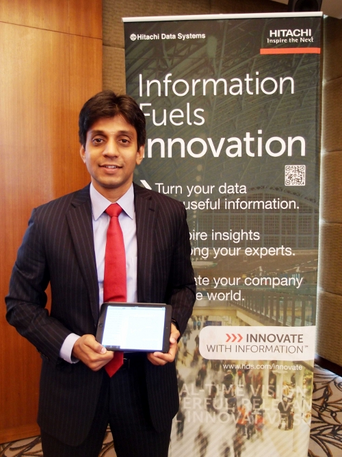 Sunil Chavan, Director, Software Group & Cloud Solutions, Asia Pacific, HDS at the Launch of HCP Anywhere