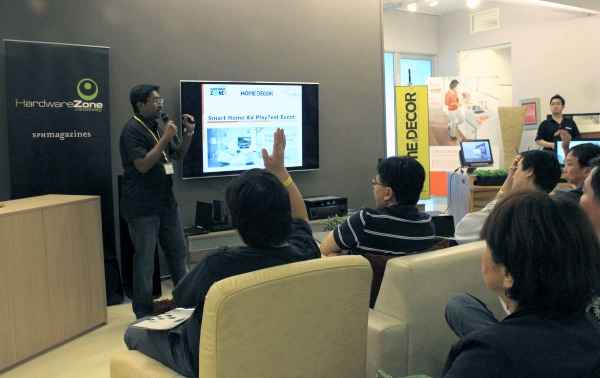 HardwareZone Editor, Vijay, kicks off the event with an introduction to home AV requirements and getting everyone acquainted with the event plan for the rest of the day.