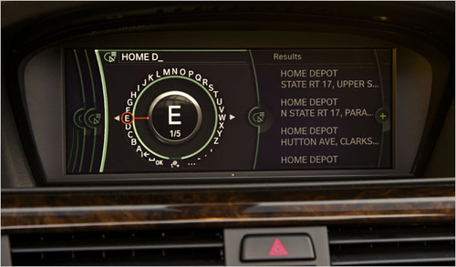 iDrive is BMW's own in-car vehicle control system.