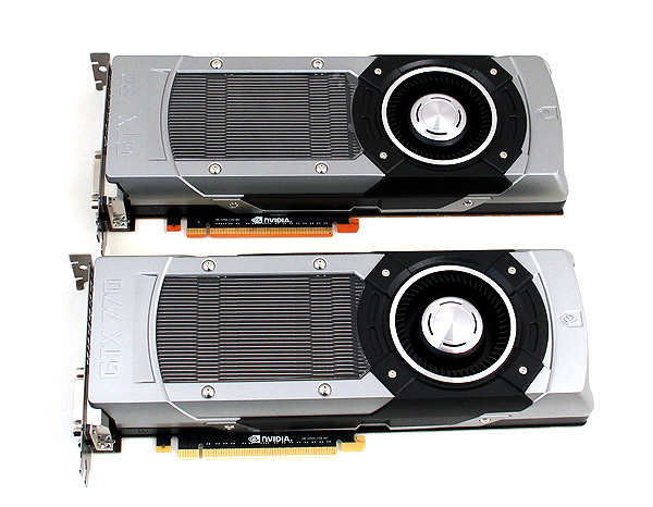 The GeForce GTX 770 and the earlier released GeForce GTX 780 have the same exact dimensions and cooler.