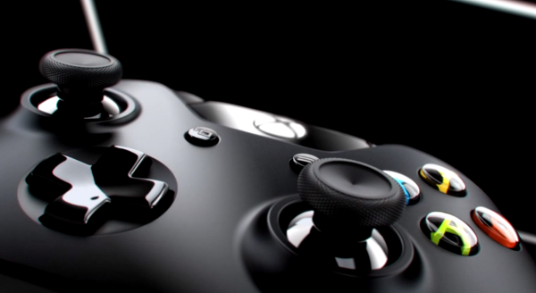 The new controller maintains mostly the same shape and design but has subtle improvements such as more textured thumbsticks.