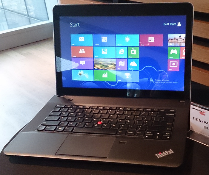 The ThinkPad Edge E431 has non-touch and touchscreen options.