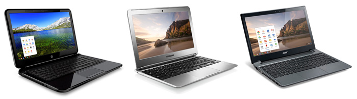 HP,  Samsung and Acer Chromebooks are finally available locally.