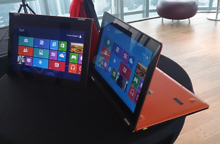 The petite IdeaPad 11S uses a 1.4GHz Intel Core i3 processor.