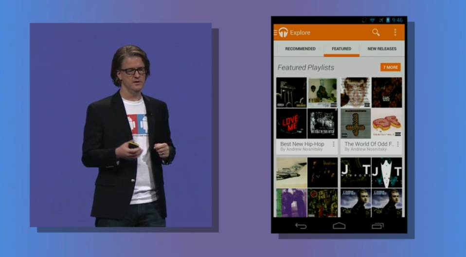 Google's Chris Yerga introduces Google Play All Access
