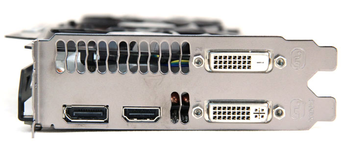 Ports-wise, the Gigabyte GTX 780 is the same as the reference card, sporting one DVI-D port, one DVI-I port, one HDMI port and one DisplayPort port.
